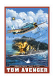 TBM Avenger - Operation Ten-Go Posters by  Lantern Press