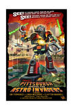 Pittsburgh, Pennsylvania Vs. the Astro Invaders Prints by  Lantern Press