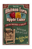 Apple Cider Farm - Vintage Sign Prints by  Lantern Press