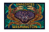 Anacortes, Washington - Dungeness Crab Mosaic Prints by  Lantern Press