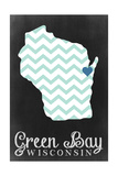 Green Bay, Wisconsin - Chalkboard Prints by  Lantern Press