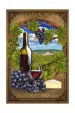 Livermore, California - Pinot Noir Prints by  Lantern Press