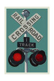 Railroad Crossing Art by  Lantern Press