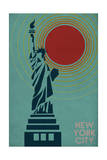 New York City, NY - Vector Statue of Liberty Prints by  Lantern Press
