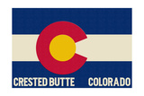 Crested Butte, Colorado - Colorado State Flag Posters by  Lantern Press