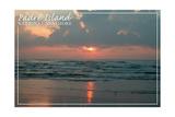 Padre Island National Seashore - Dawn Poster by  Lantern Press