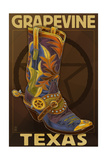 Grapevine,Texas - Boot and Star Art