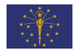Indiana State Flag Prints by  Lantern Press