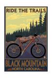 Black Mountain, North Carolina - Ride the Trails Print van  Lantern Press