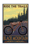 Black Mountain, North Carolina - Ride the Trails Print by  Lantern Press
