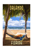 Orlando, Florida - Palms and Hammock Posters by  Lantern Press