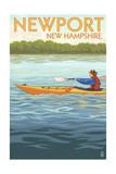 Newport, New Hampshire - Kayak Scene Print by  Lantern Press