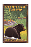 Deep Creek Lake State Park, Maryland - Bear in Forest Prints by  Lantern Press