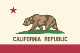 California State Flag Prints by  Lantern Press