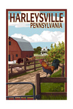 Harleysville, Pennsylvania - Barnyard Scene Posters by  Lantern Press