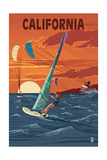 California - Wind Surfing Posters by  Lantern Press