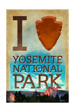 I Heart Yosemite National Park, California Prints by  Lantern Press