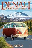 Denali National Park, Alaska - VW Van Posters by  Lantern Press