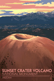 Sunset Crater Volcano National Monument, Arizona Print by  Lantern Press