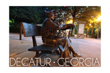 Decatur, Georgia - Bench Statue Posters by  Lantern Press