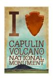 I Heart Capulin Volcano National Monument, New Mexico Prints