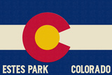 Estes Park, Colorado - Colorado State Flag Prints by  Lantern Press