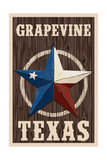 Grapevine,Texas - Barn Star Posters by  Lantern Press