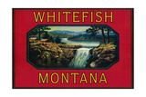 Whitefish Montana - Orange Label Print by  Lantern Press