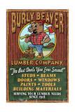 Beaver Lumber - Vintage Sign Reprodukcje autor Lantern Press