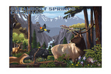 Steamboat Springs, Colorado - Wildlife Utopia Prints by  Lantern Press