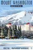 Mount Washington Hotel in Winter - Bretton Woods, New Hampshire Poster by  Lantern Press