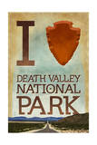 I Heart Death Valley National Park Print by  Lantern Press
