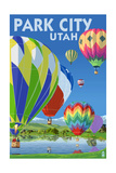 Park City, Utah - Hot Air Balloons Art by  Lantern Press