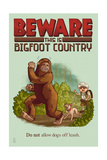Bigfoot Country - No Dogs Off Leash Prints by  Lantern Press
