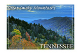 Great Smoky Mountains, Tennessee - Day Print by  Lantern Press