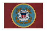 United States Coast Guard - Military - Insignia Print by  Lantern Press