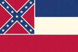 Mississippi State Flag Premium Giclee Print by  Lantern Press