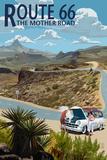 Route 66 - Hairpin Breakdown Affiche par  Lantern Press