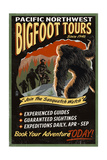 Bigfoot Tours - Vintage Sign Posters by  Lantern Press
