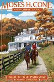 Blue Ridge Parkway - Moses H. Cone Memorial Park Prints