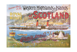 Steamship Royal Route of Scotland - Vintage Poster Plakat autor Lantern Press