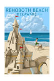 Rehoboth Beach, Delaware - Sandcastle Prints by  Lantern Press