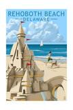 Rehoboth Beach, Delaware - Sandcastle Prints