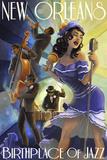Lantern Press - Jazz Scene - New Orleans, Louisiana - Poster