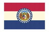 Missouri State Flag Prints by  Lantern Press