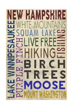 New Hampshire - Typography Posters by  Lantern Press