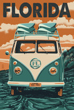 VW Van - Florida Prints by  Lantern Press