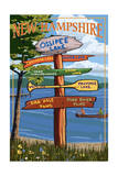 Ossipee Lake, New Hampshire - Canoe Scene Posters by  Lantern Press