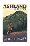 Ashland, Oregon - Hiker Scene Prints by  Lantern Press