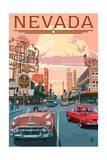 Nevada - Old Strip Scene Posters